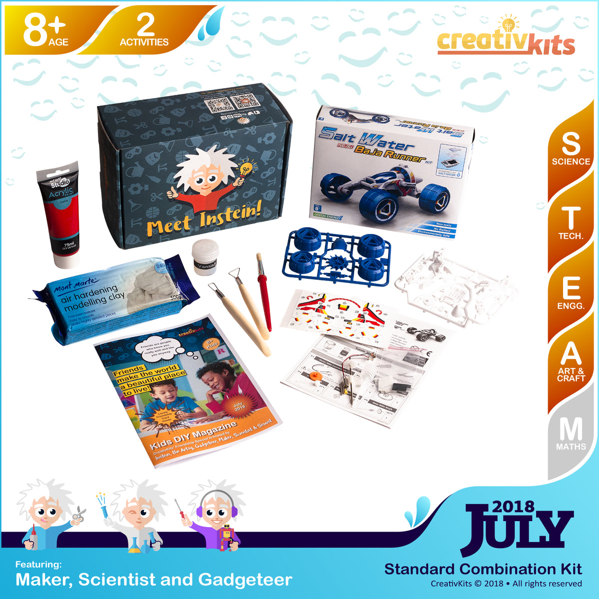 Salt-water Baja Runner and Ceramic Hand Dish | July Art and Science Combination Kit | Age 8+