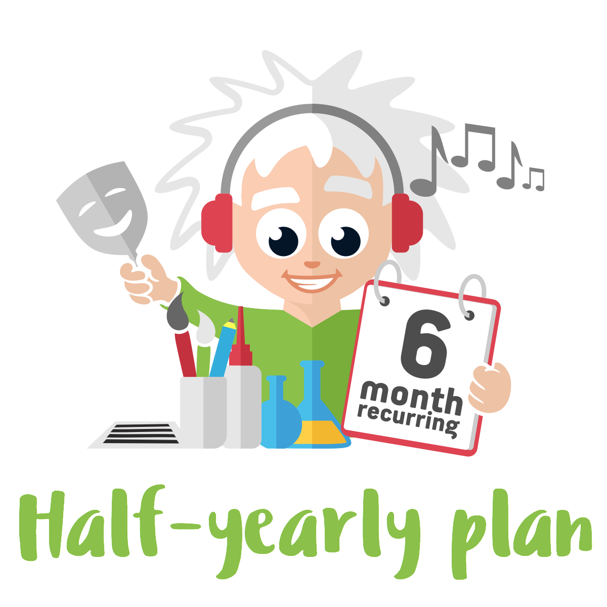 Half-yearly Premium Plan - 4 Premium Activities on a 6 month Plan