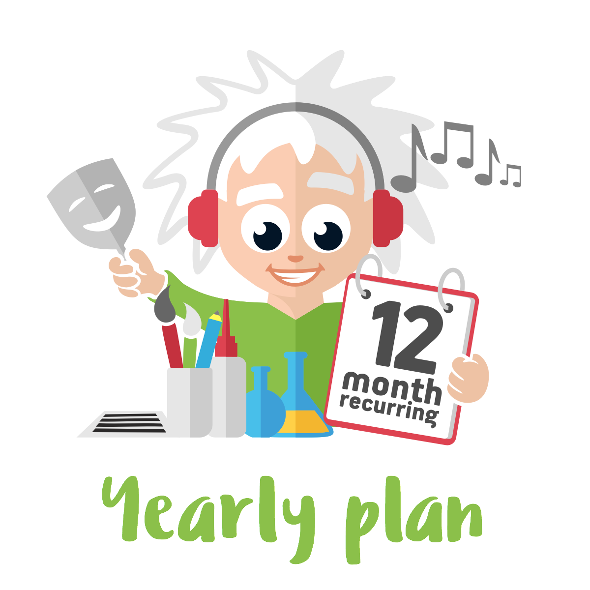 Yearly Plus Plan - 4 Premium Activities on a 12 month Plan