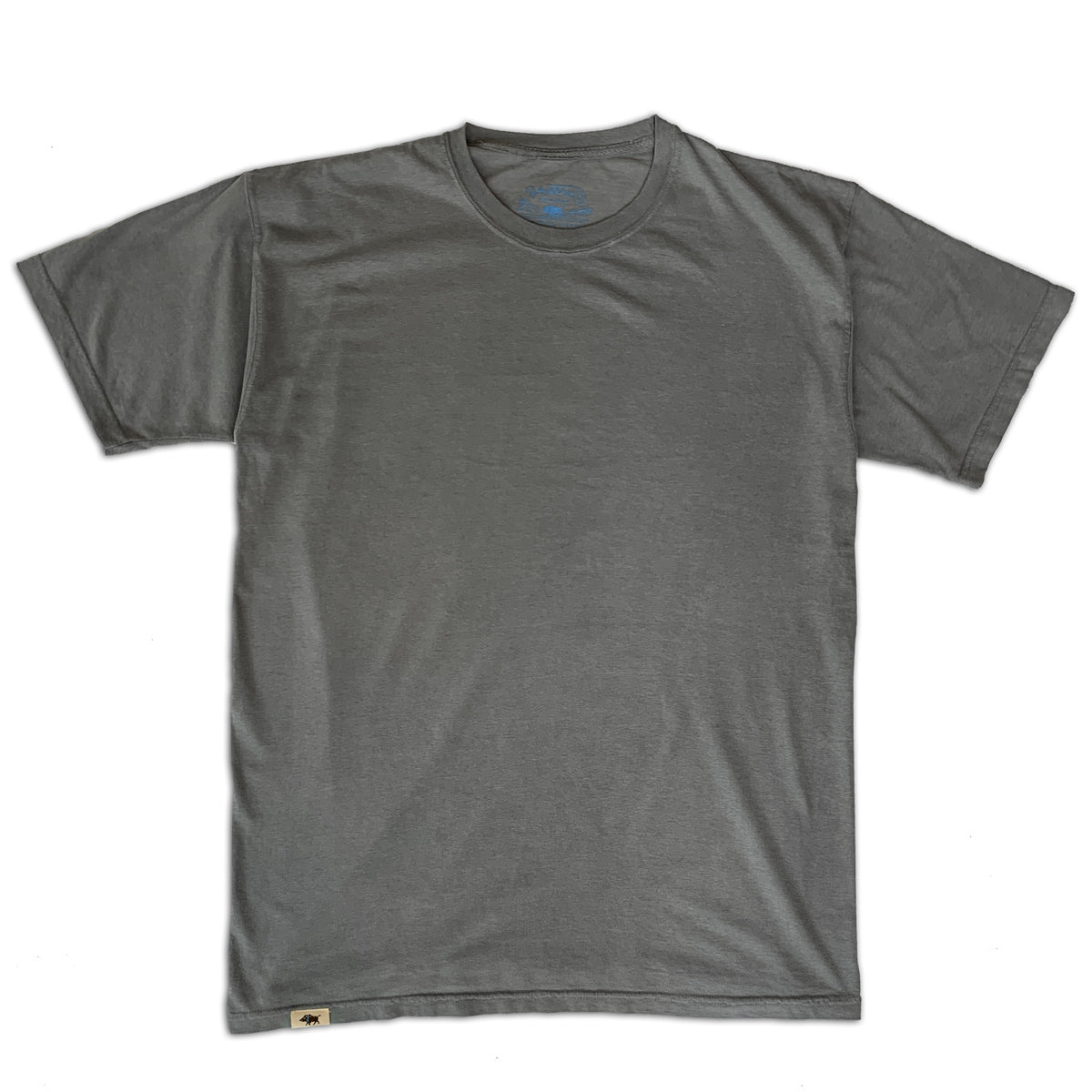 Men's Pigment Dyed Cotton Tee - Gray