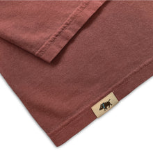 Men's Pigment Dyed Cotton Tee - Red