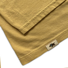 Men's Pigment Dyed Cotton Tee - Yellow