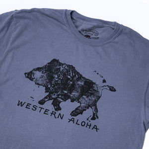 MEN'S WALKING BOAR WOODBLOCK TEE