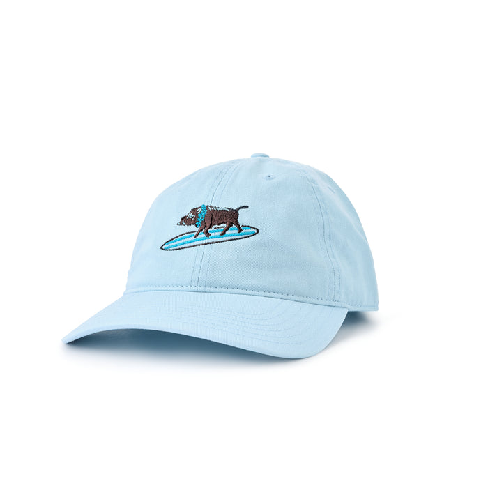 SURFING BOAR DAD CAP BLUE