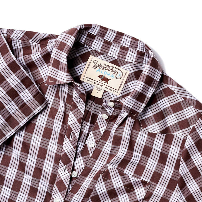 PALAKA POPOVER SHORT SLEEVE BROWN
