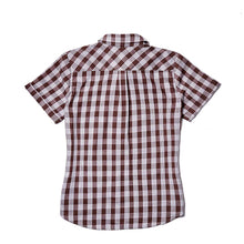 WOMEN'S PALAKA POPOVER SHORT SLEEVE BROWN