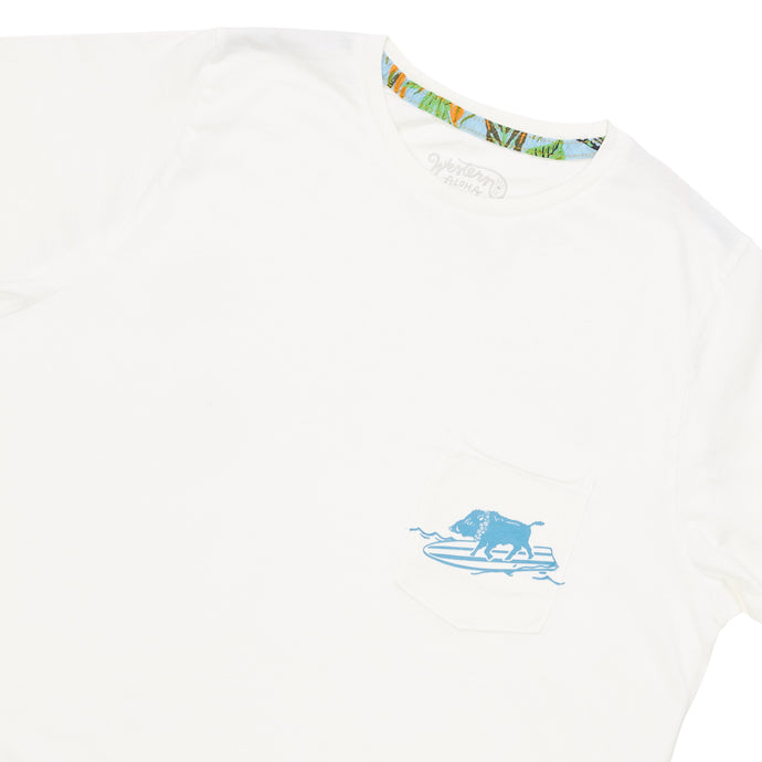 Surfing Boar Pocket Tee