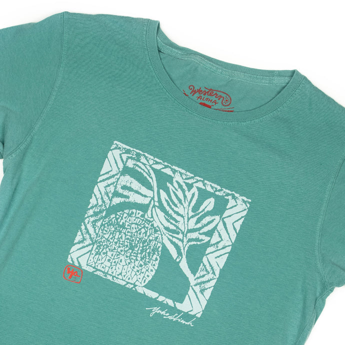 WOMEN'S ULU WOODBLOCK TEE