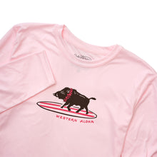 YOUTH SURFING BOAR PERFORMANCE TEE - PINK