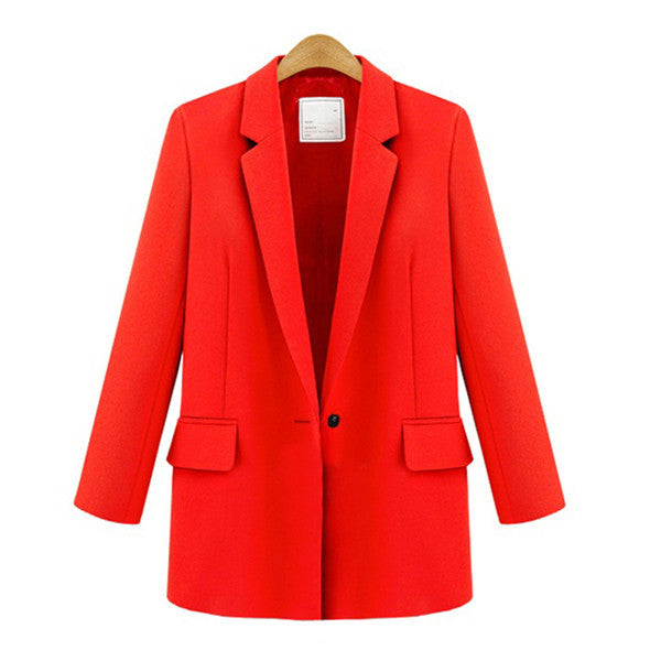 2017 Blazer Women Jacket Red/White/Black Women Blazer Slim Coat Casual
