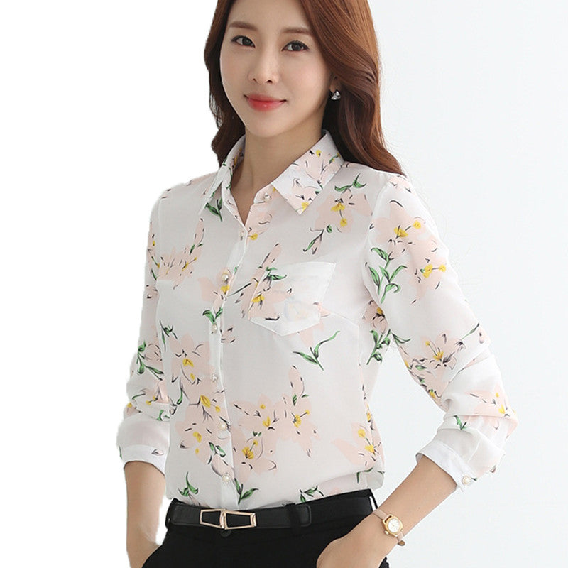 2017 Fashion New Women Blouse Shirt Plus Size Spring Summer Vintage