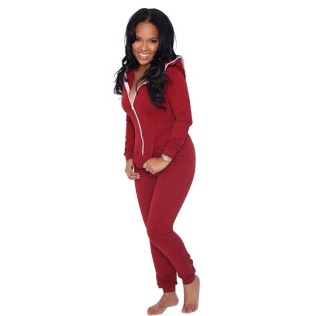 2017 Casual Women One Piece Outfits Jumpsuits Long Sleeve Bodycon