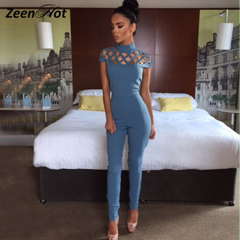 2016 Red Women Bodysuit Rompers Womens Jumpsuit short sleeve Sexy