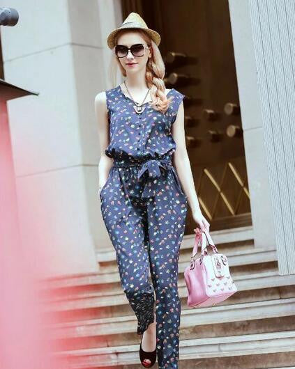 2016 Fashion Jumpsuits Ladies Party Overalls Women Sleeveless
