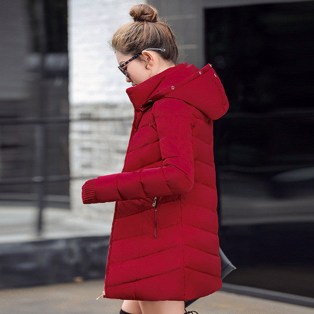 2017 Fashion Wadded jacket Female Coat Women Winter New Slim Warm Down