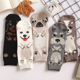 10pairs Funny Women 3D Pug Pet Dog Ankle Socks Kawaii Female Dachshund Samoyed Schnauzer Corgi Puppy Cotton Sock Wholesale