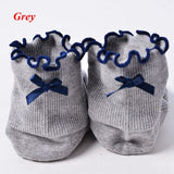 1Pair Fashion Women Sweet Ruffle Frilly Bowknot Ankle Socks Breathable