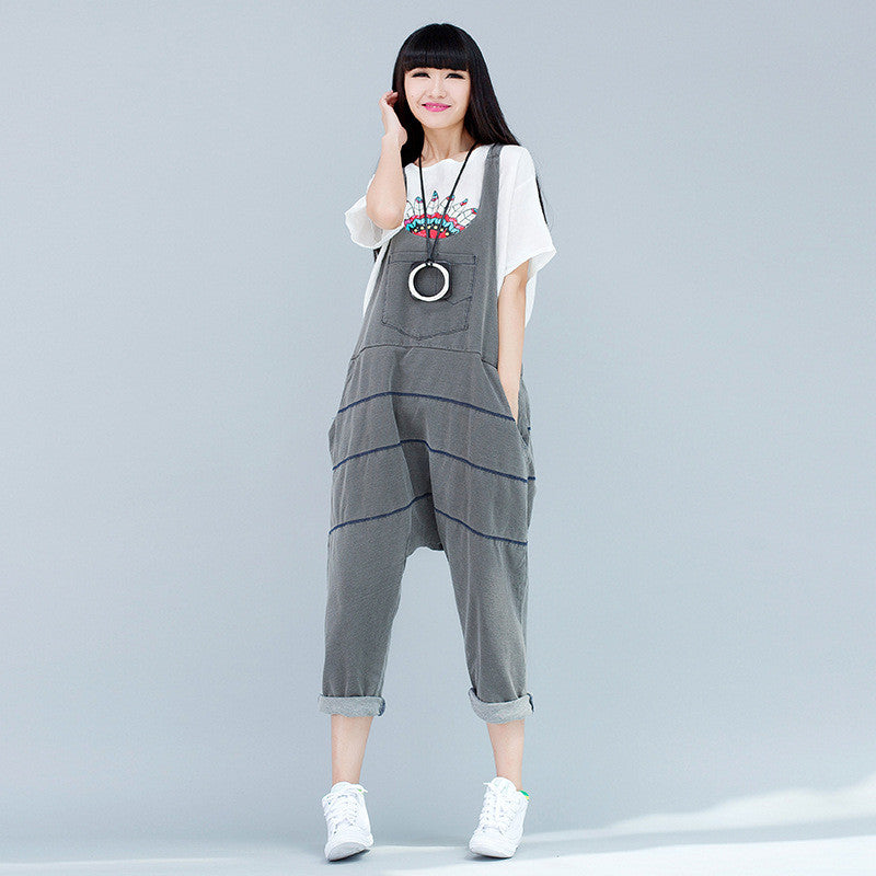 Women 2016 New Mori Girl Cute Jumpsuits Female Denim Jumpsuits