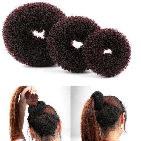 1PCS Size S/M/L New Fashion Women Bun Accessories Styling Tool Hair Accessories Lady Magic Shaper Donut Hair Ring