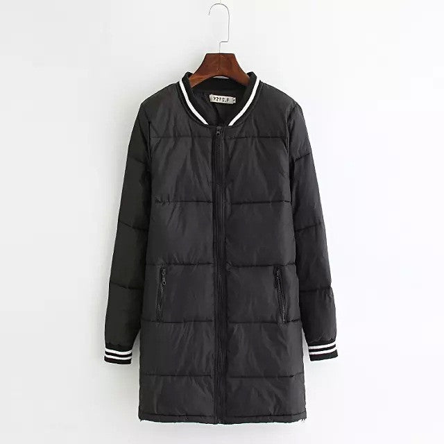 2016 Winter Parkas Plus Size Women Jackets and Coats Black White Mix
