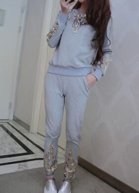 2 piece set women 2016 new runway tracksuit spring autumn fashion