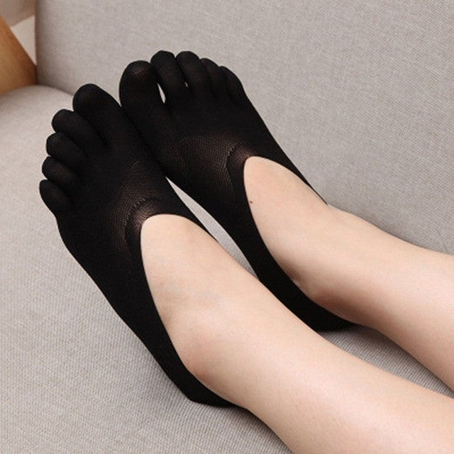1 pair New Arrival Ladies Cotton Blend Lace Antiskid Invisible Low Cut