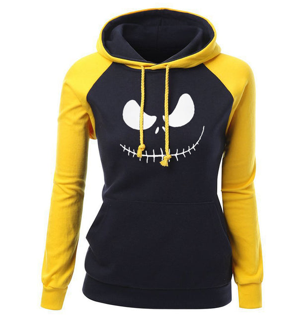 Jack Skellington Pumpkin King Print Women's Hoodies Sweatshirts 2017