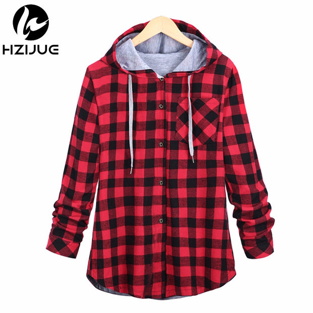 HZIJUE Fashion Women Hoodies Cotton Autumn Winter Coat Long Sleeve