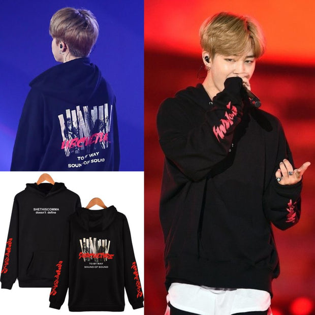 BTS JIMIN Hoodies BTS Bangtan Boys kpop Hoodies and Sweatshirts 2017