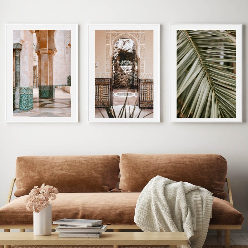 Morocco in pastel set of 3