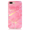 Coque iPhone Marbre Holo Rose