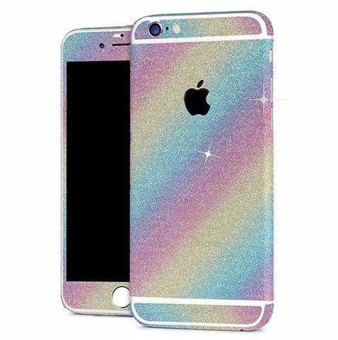 Skin iPhone Paillettes Brillantes Arc En Ciel