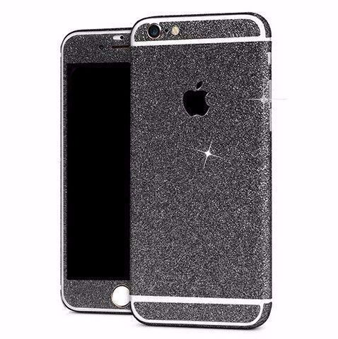 Skin iPhone Paillettes Brillantes Noires