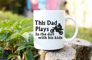 This Dad Plays In the dirt with his kids Mug | Coffee Mug