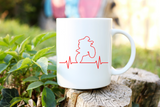 Dirt Bike Heartbeat Mug | Coffee Mug
