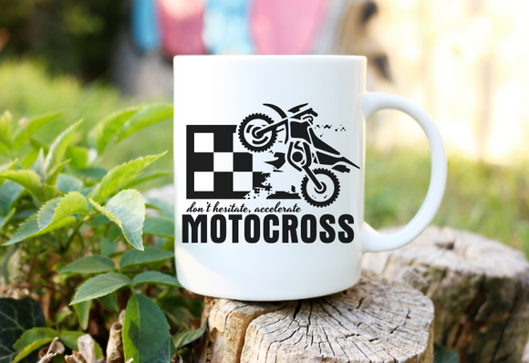 don't hesitate, accelerate MOTOCROSS | Coffee Mug