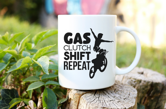 Gas Clutch Shift Repeat | Coffee Mug