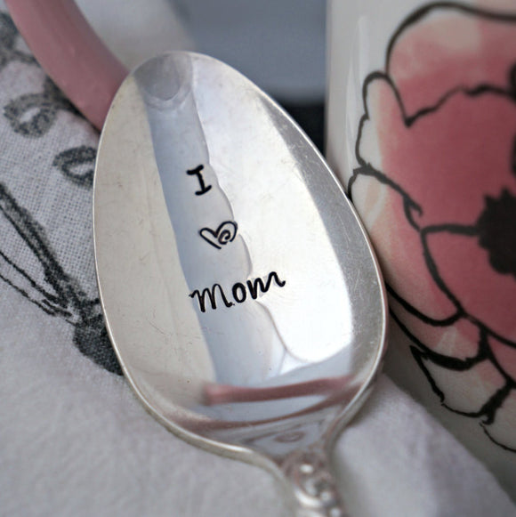 I (heart) Mom | Stamped Spoon