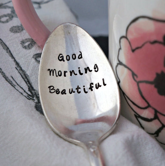 Good Morning Beautiful | Stamped Spoon