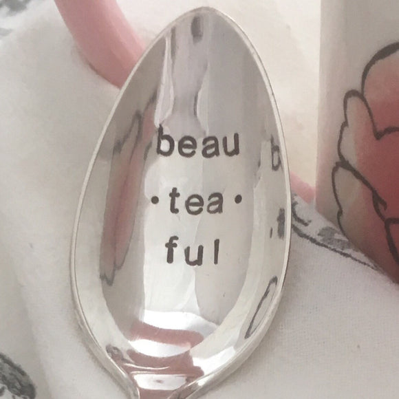 beau-tea-ful | Stamped Spoon