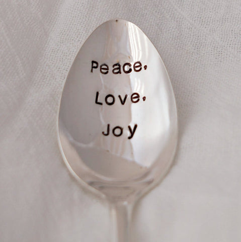 Peace, Love, Joy | Stamped Spoon