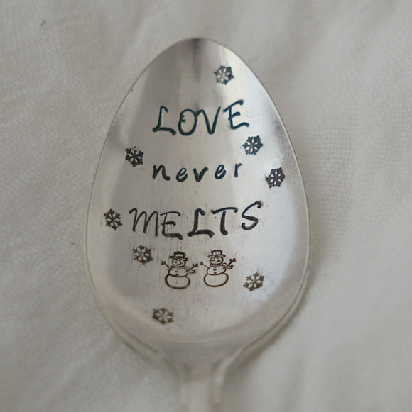 LOVE never MELTS | Stamped Spoon