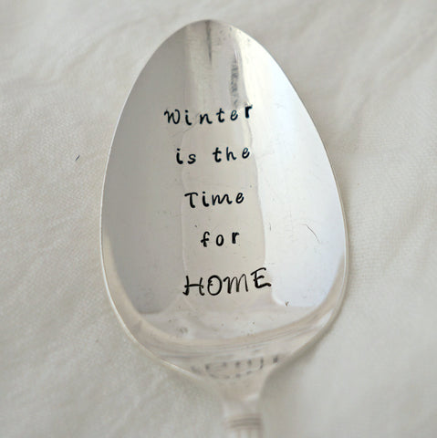 Winter is the Time for HOME | Stamped Serving Spoon