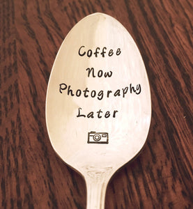 Coffee Now Photography Later | Stamped Spoon