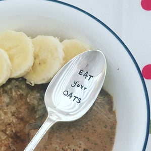 EAT your OATS | Stamped Spoon