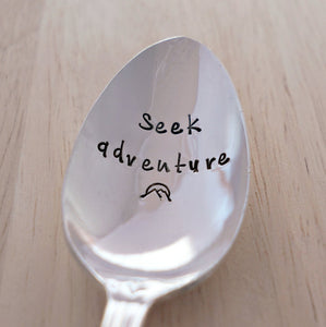 Seek adventure | Stamped Spoon