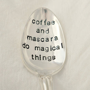 coffee and mascara do magical things | Stamped Spoon