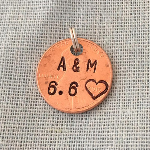 Initials and Date | Stamped Penny