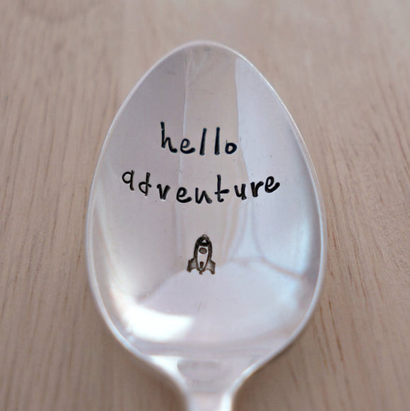 hello adventure | Stamped Spoon