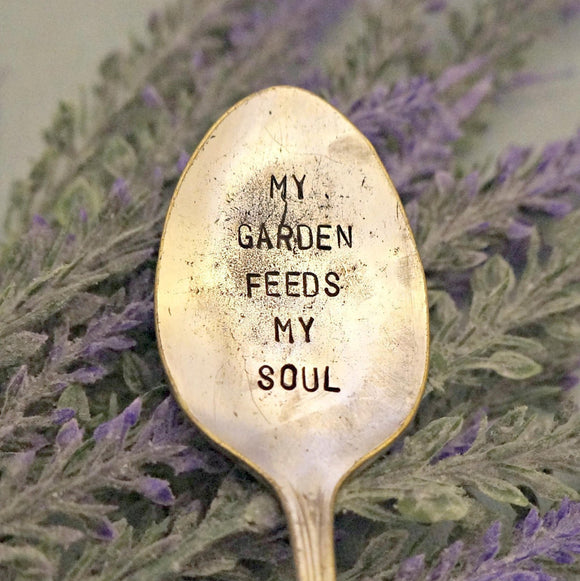 My Garden Feeds My Soul | Stamped Garden Marker